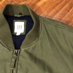 Army green men's bomber jacket from GAP